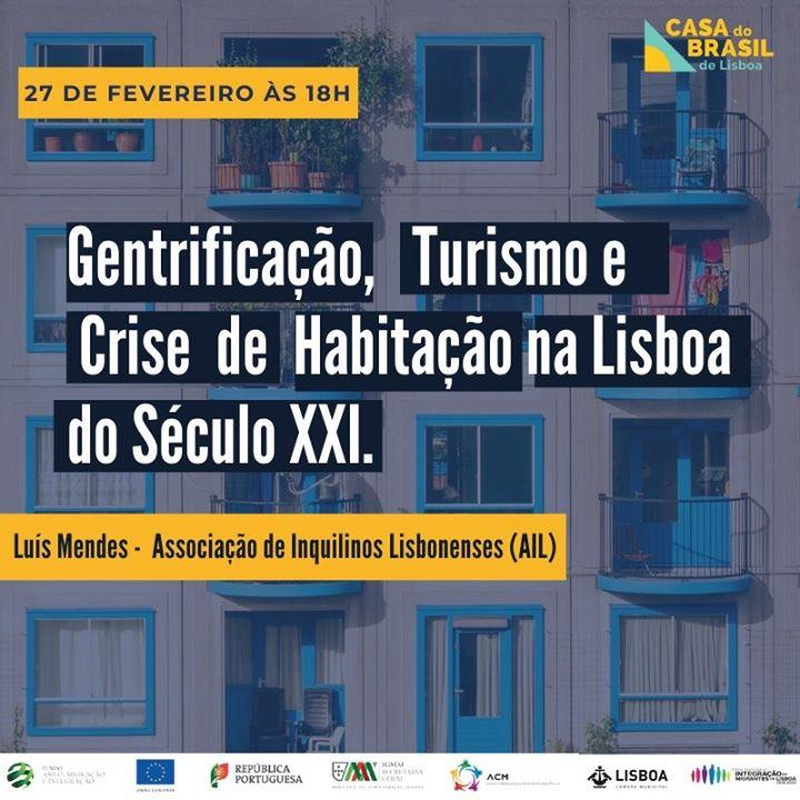 Palestra 'Gentrificação, Turismo e Crise Habitacional em Lisboa'