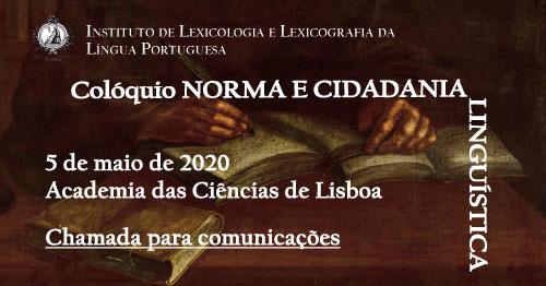 Adiado   Colóquio «Norma e Cidadania Linguística»