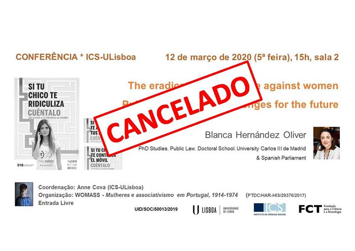 Cancelado |Conferência:The eradication of violence against women