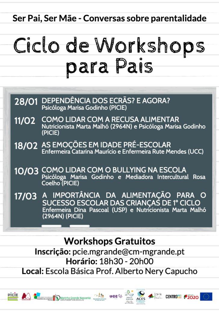 """4.º workshop para pais """"Como lidar ..."""