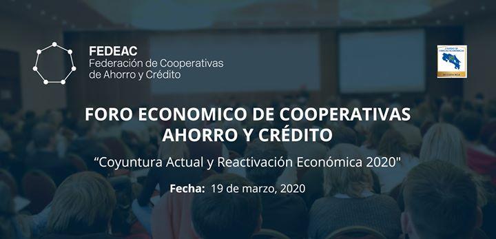 Foro Económico de Cooperativas Ahorro y Crédito