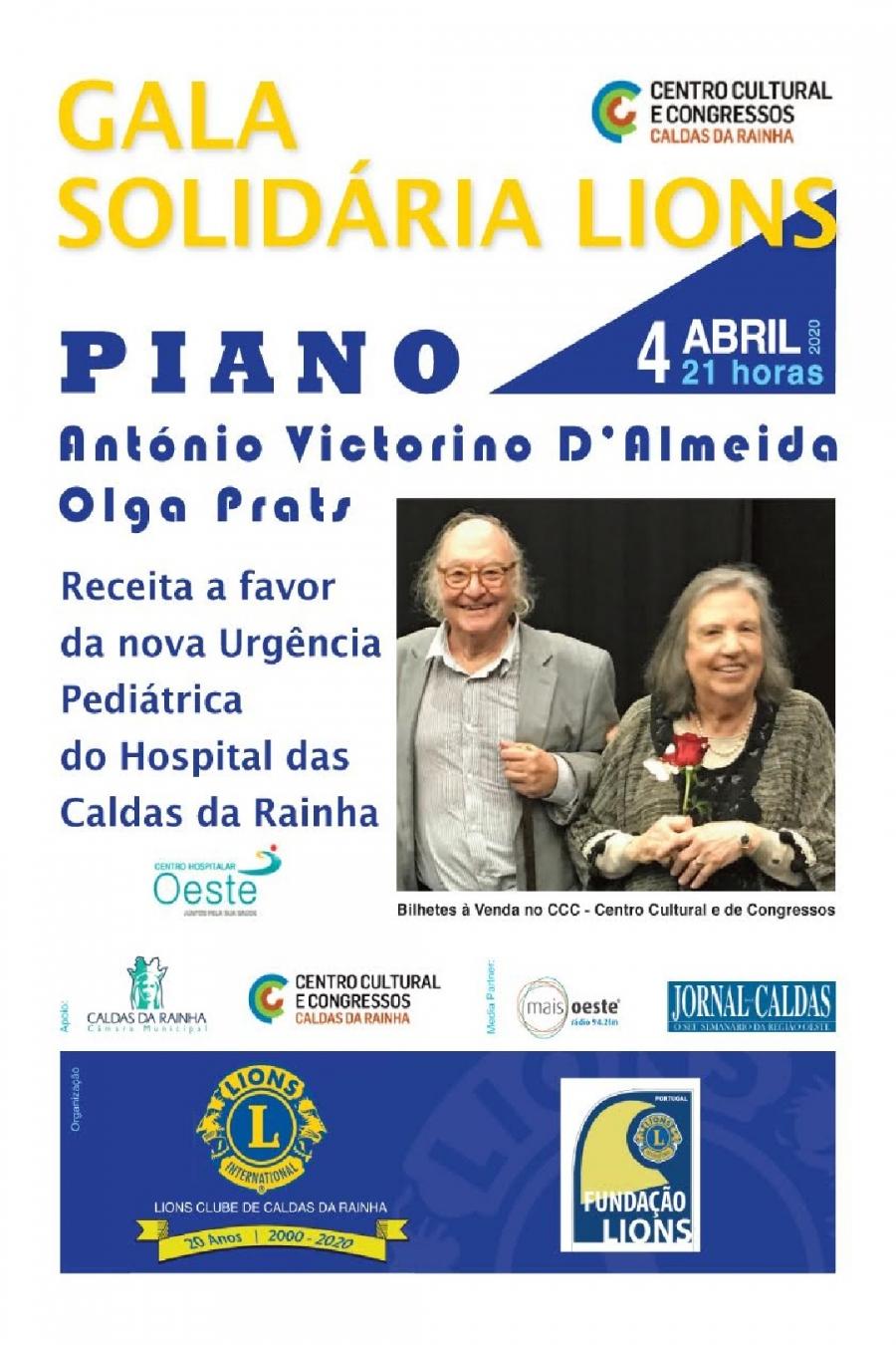 Gala Solidária Lions - a favor da nova Urgência Pediátrica