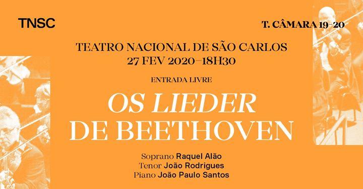 Os Lieder de Beethoven - Concerto no Foyer de entrada livre