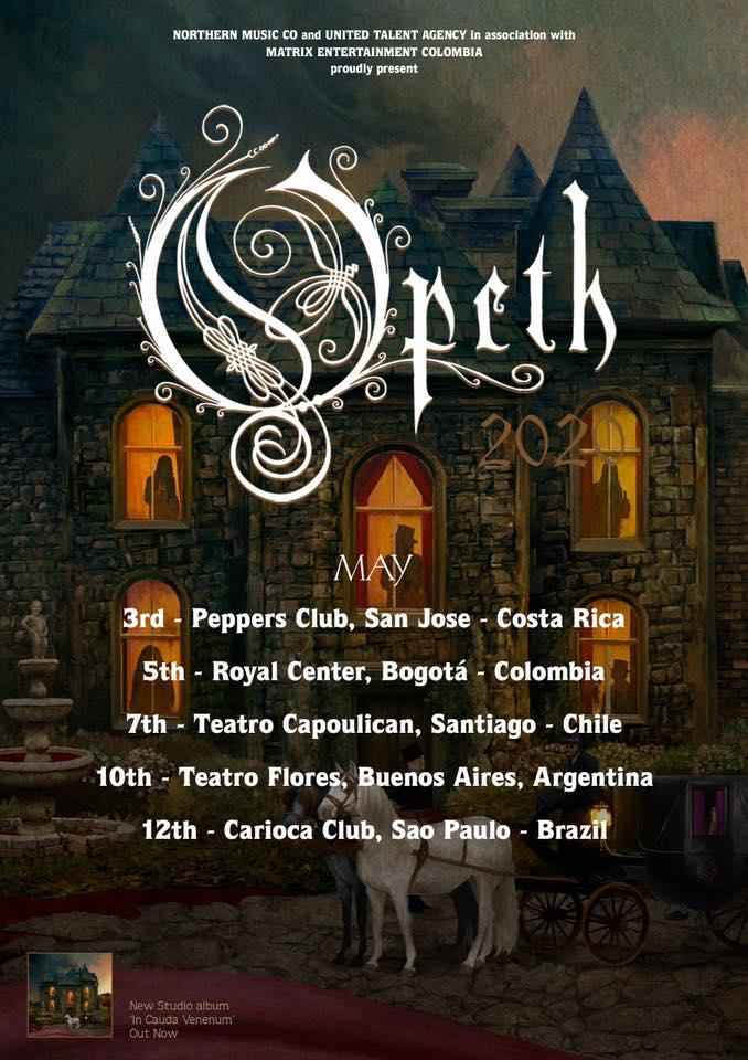 Opeth en Costa Rica 2021 (Evento Oficial)