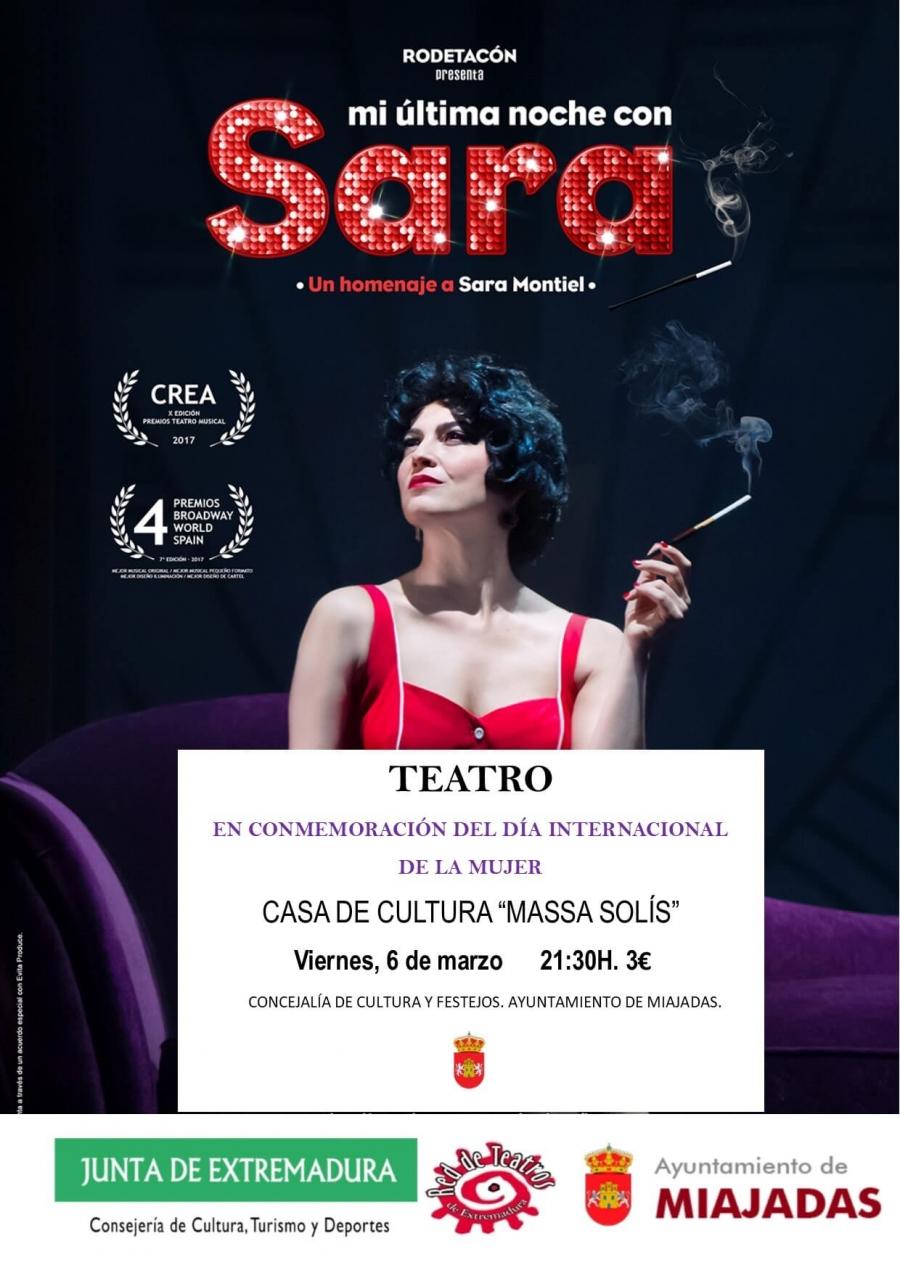 Teatro: Mi última noche con Sara