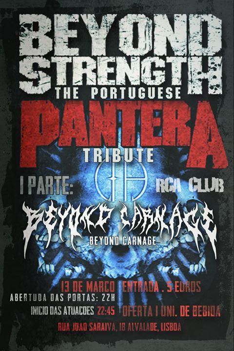 Beyond Strength - Pantera Tribute + Beyond Carnage RCA CLUB