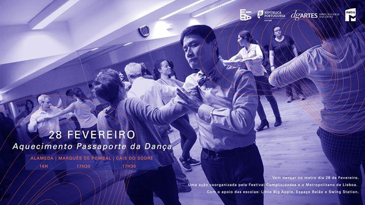 Aquecimento Passaporte da Dança   Metropolitano de Lisboa