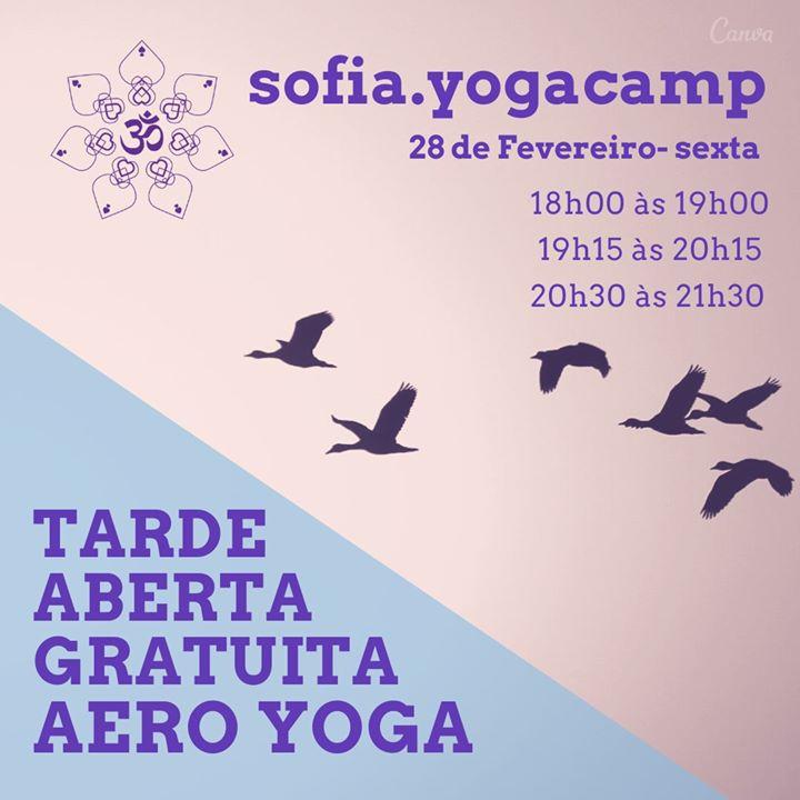 Tarde aberta gratuita - Aero Yoga