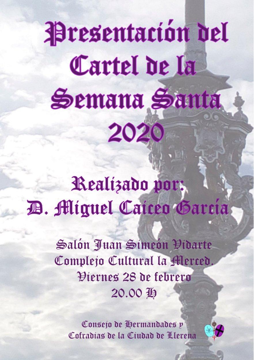 Presentación del cartel de la Semana Santa de Llerena 2020