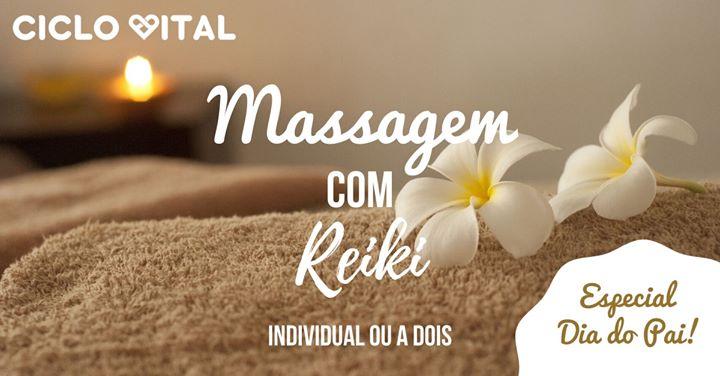 Massagem com Reiki - Especial Dia do Pai