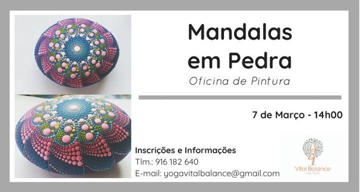 Oficina de Pintura de Mandalas em Pedra