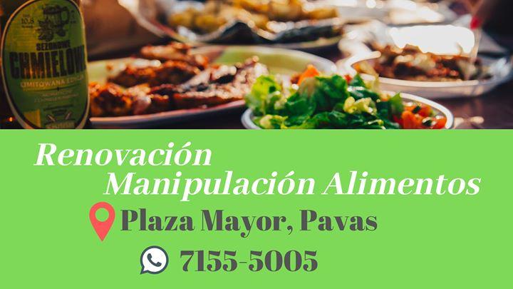 Renovación Manipulación de Alimentos Pavas