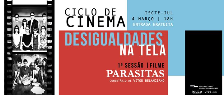 Ciclo de Cinema: Desigualdades na Tela - Filme 'Parasitas'