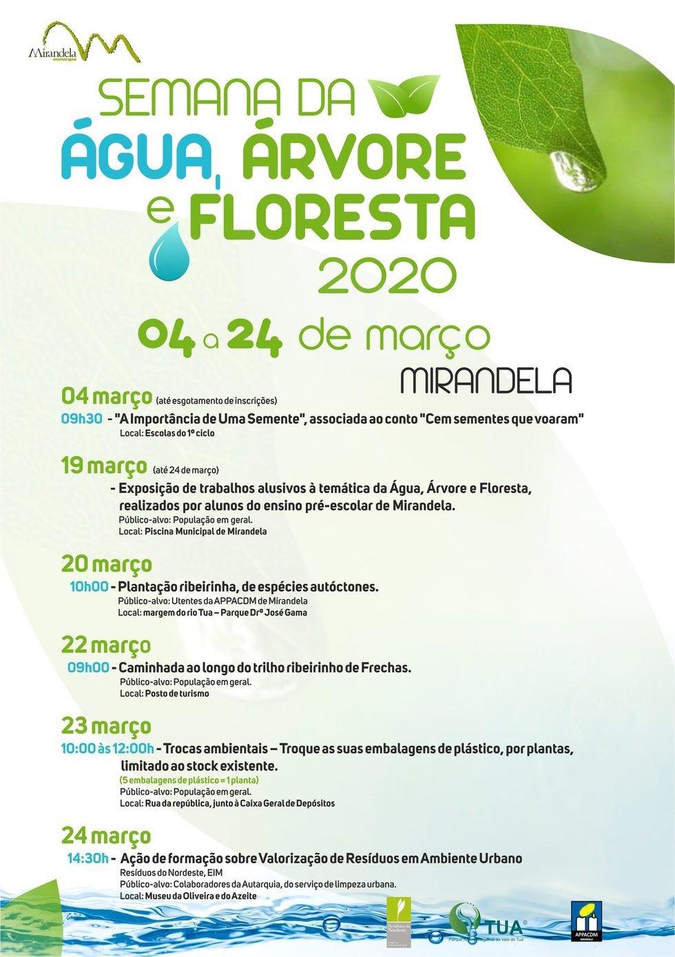 (Suspenso) Semana da Água, Árvore e Floresta 2020
