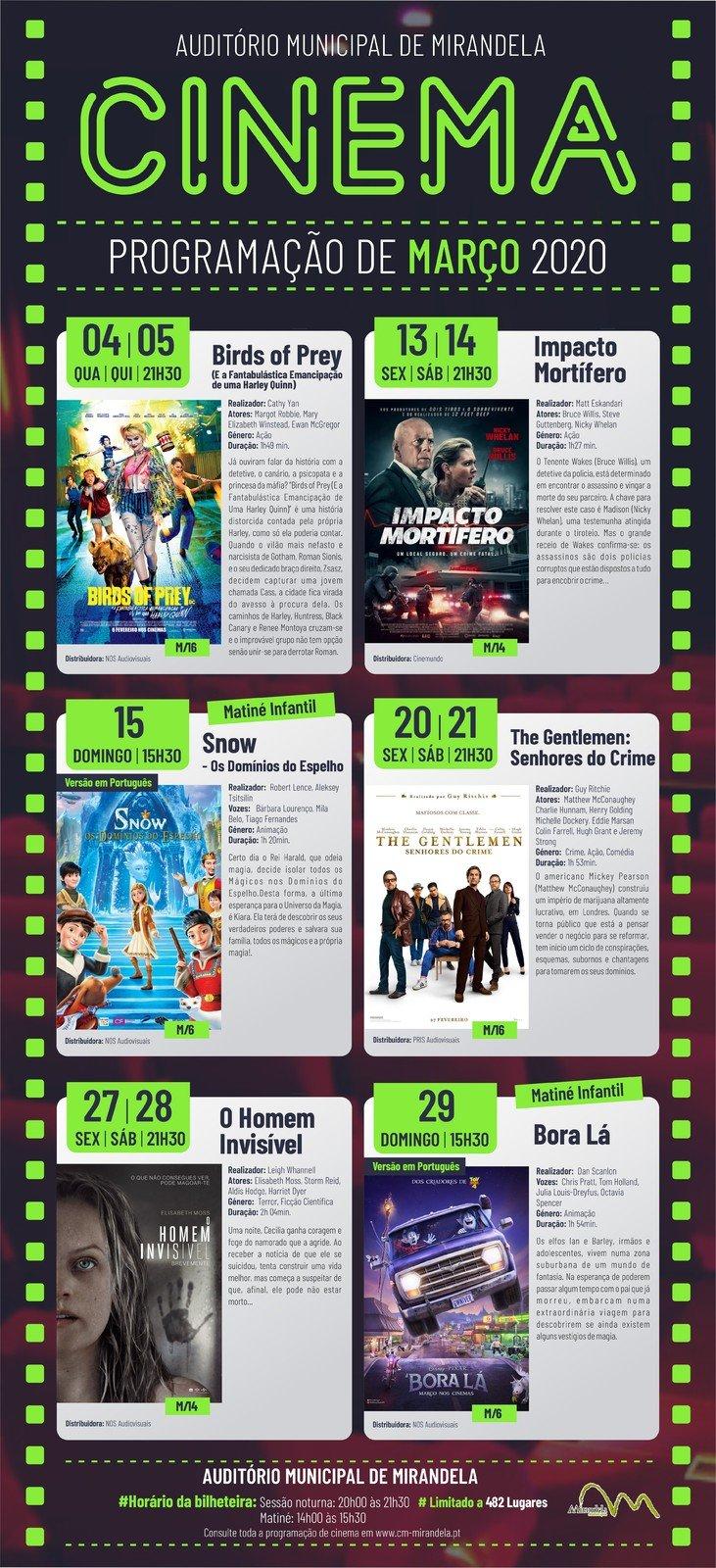 (Suspenso) Cinema: Março 2020