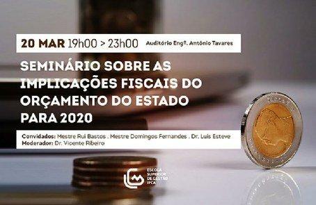 Seminário sobre alterações fiscais ...