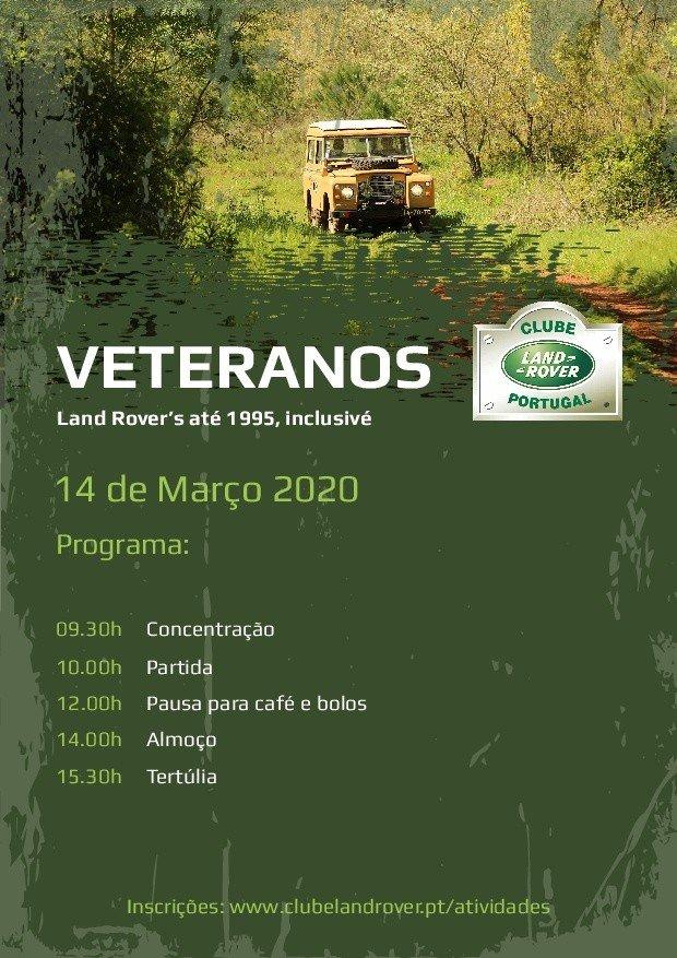 Passeio Land Rover - Veteranos 2020
