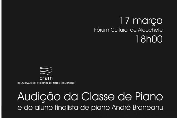 Audição de piano pelo Conservatório Regional ...