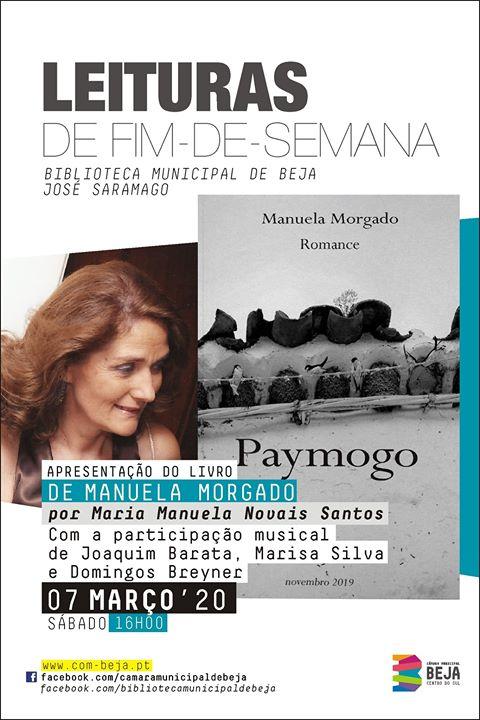 Apresentação do livro 'Paymogo' de Manuela Morgado