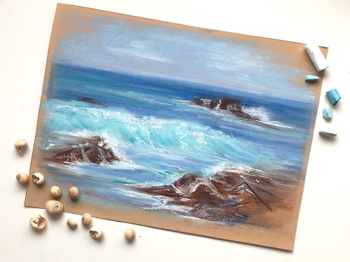 Art Party | Creating & Representing The Oceans thru Pastels