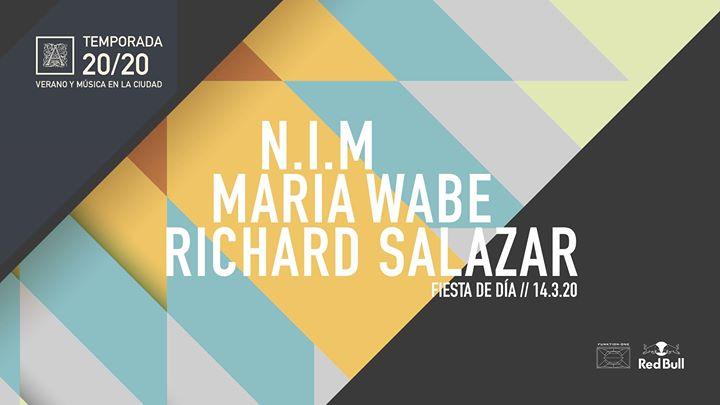 Fiesta de día con N.i.M, María Wabe y Richard Salazar