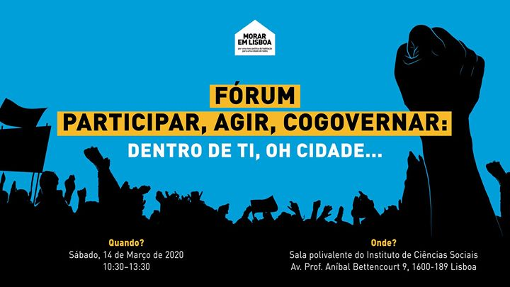 Fórum 'Participar, Agir, Cogovernar: Dentro de Ti, ó Cidade'