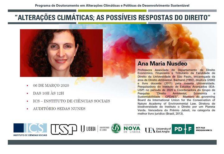 Conferência do Programa Doutoramento em Alterações Climáticas