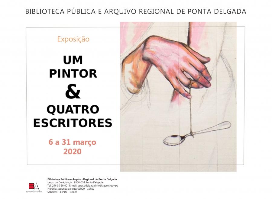 Exposição 'Um pintor & quatro escritores' de Yves Decoster