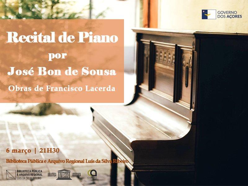 Recital de piano, por José Bon de Sousa