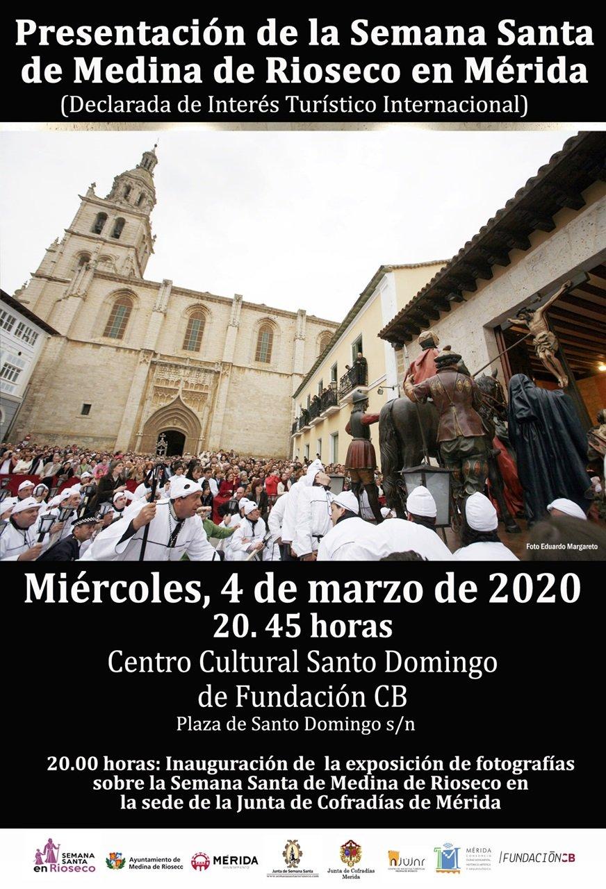 Presentación de la Semana Santa de Medina de Rioseco en Mérida