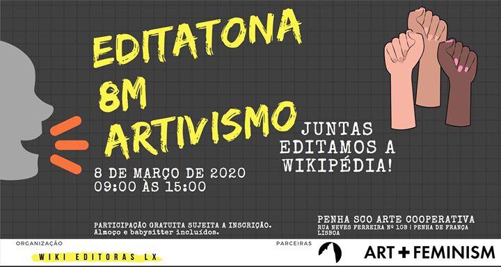 Editatona 8M: Artivismo. Juntas editamos a Wikipédia