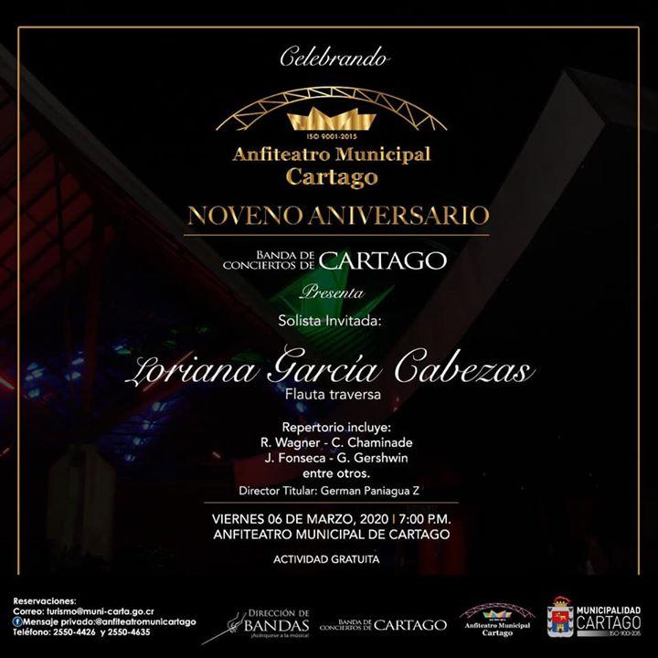 Concierto 9 Aniversario con la Banda de Conciertos de Cartago