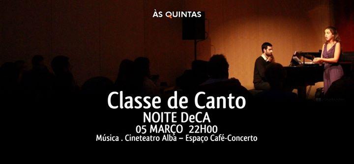 Noite DeCA - Classe de Canto