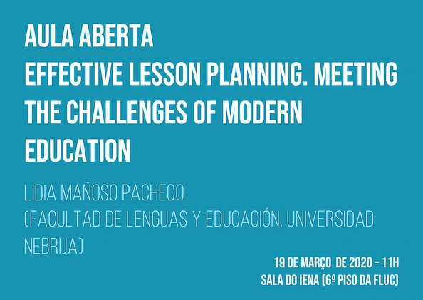 "Aula Aberta ""Effective Lesson Planning. Meeting the Challenges of Modern Education"""