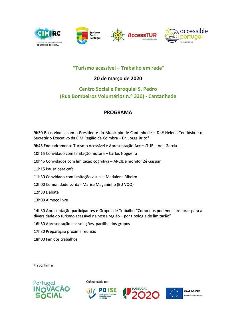 """Workshop """"Turismo acessível – Trabalho em rede"""""""