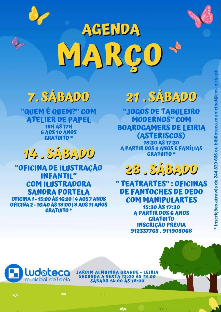 Agenda Março: Ludoteca Municipal de Leiria