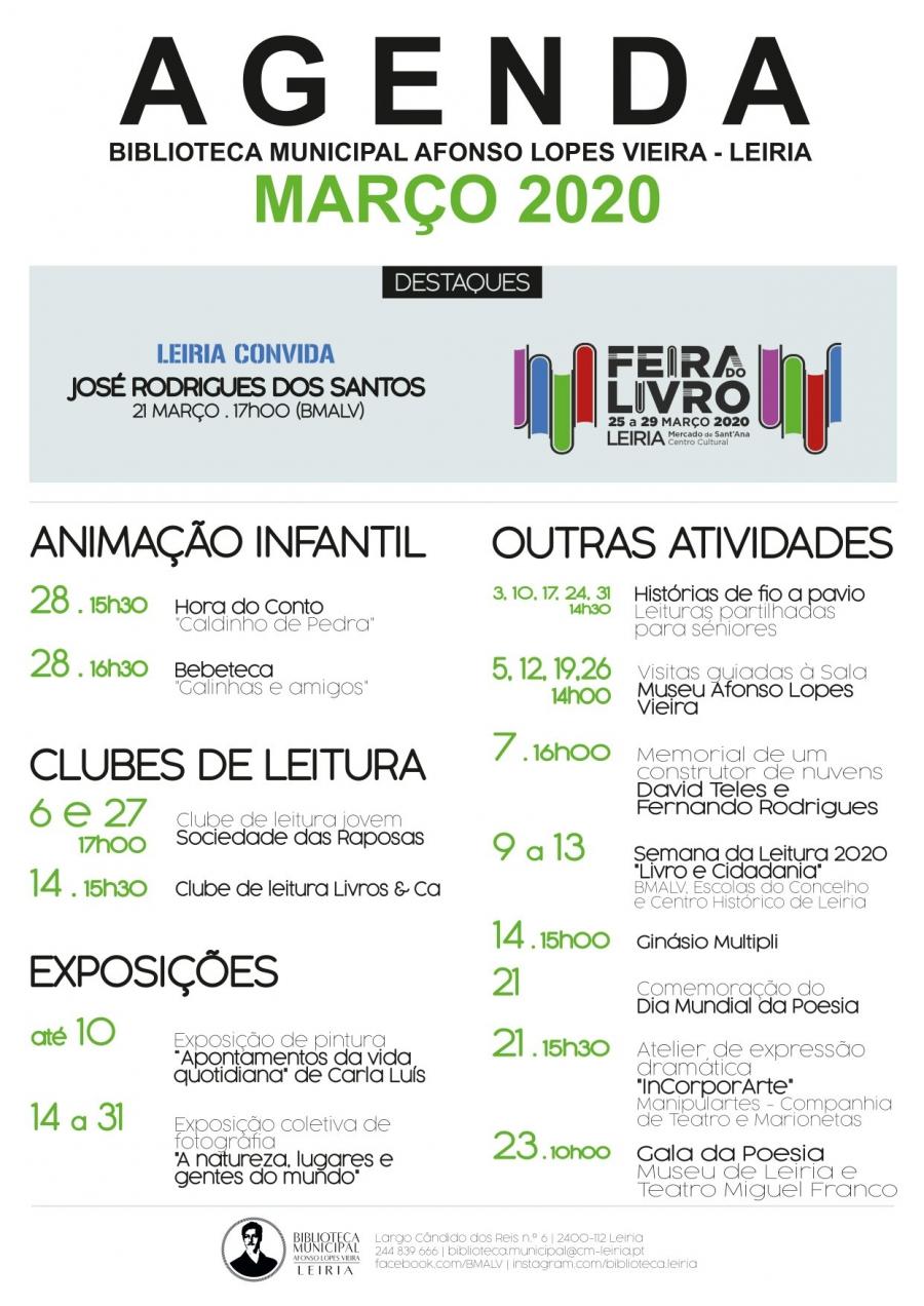Agenda - Biblioteca Municipal Afonso Lopes Vieira