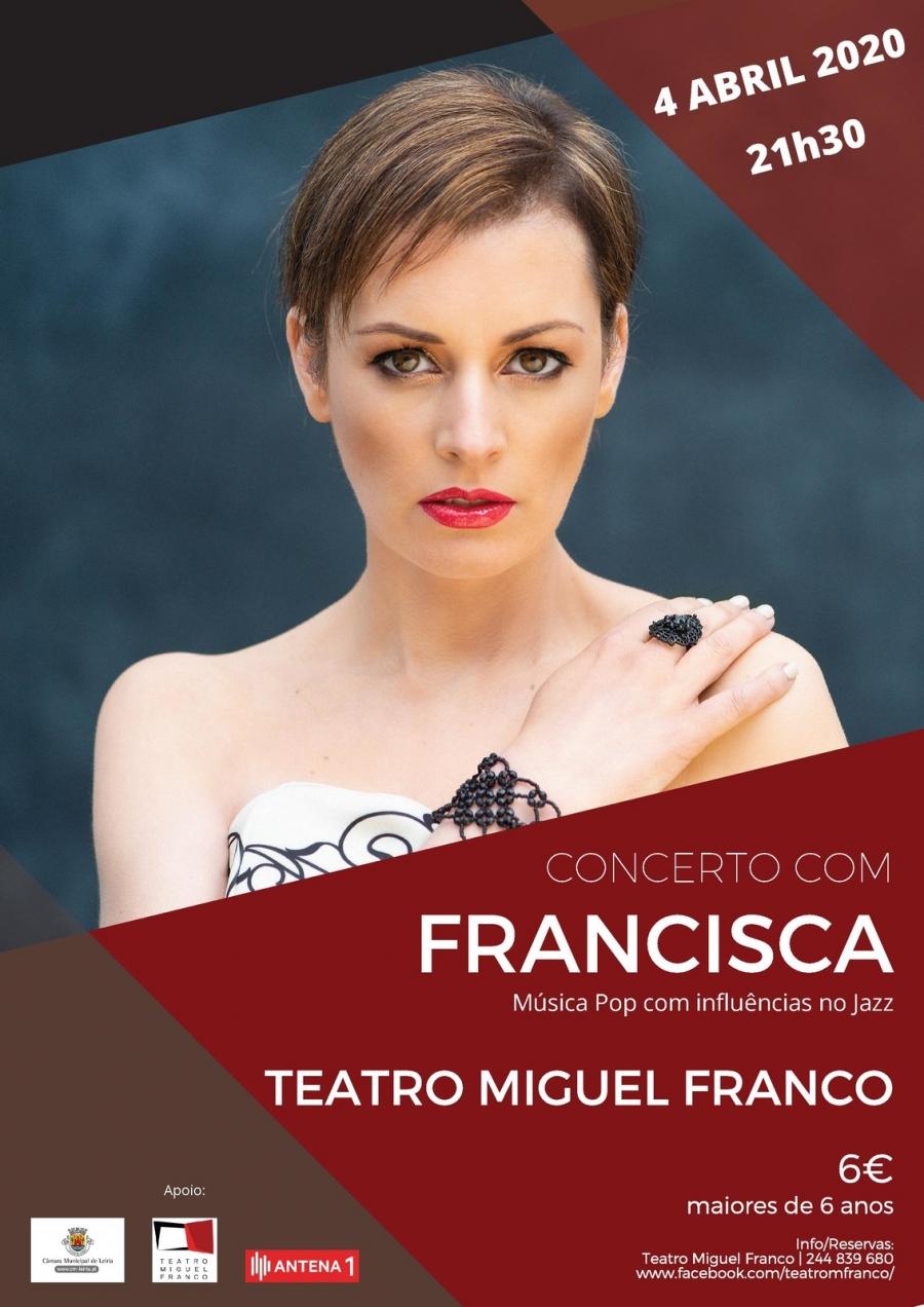 Concerto com Francisca: Música Pop com influências no jazz