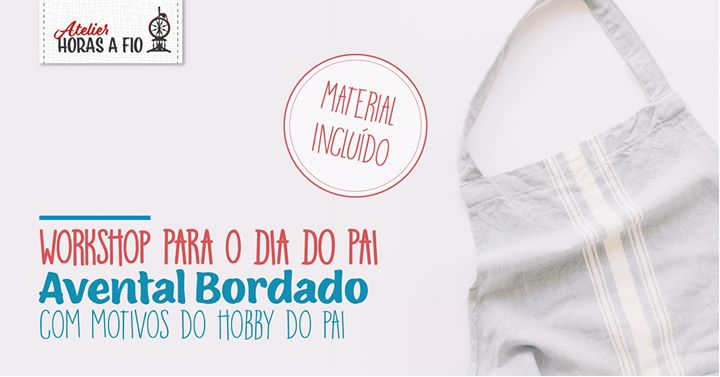 Avental Bordado - Hobby do Pai