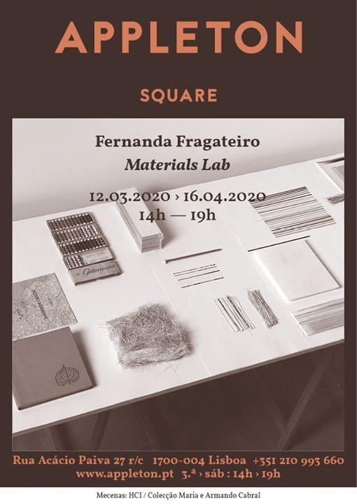 Square: Fernanda Fragateiro / Materials Lab