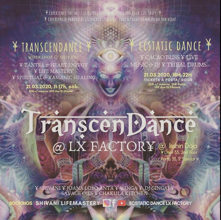 Ecstatic Dance, Cacao Bliss+ TranscenDance, 21.03 at LX Factory