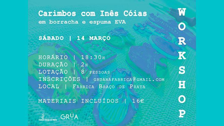 Workshop de Carimbos   Borracha e espuma EVA