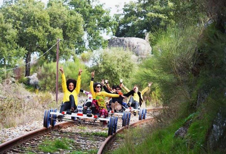 Pedalar linha Comboio, Rota Contrabando Café, Marvão, Cast Vide