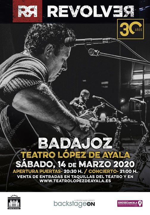 APLAZADO // Revolver Gira 30 Años. Badajoz