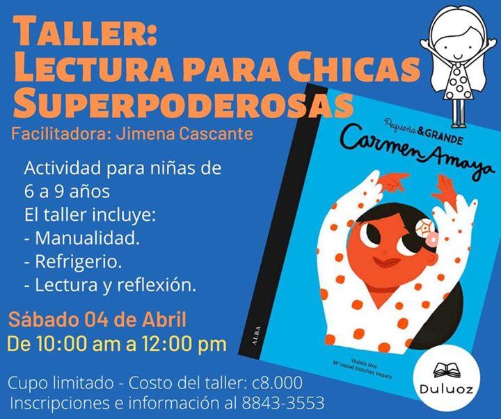 Taller de Lectura para Chicas Superpoderosas: Carmen Amaya