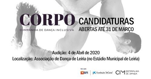 CORPO - Companhia de Dança Inclusiva   Candidaturas Abertas