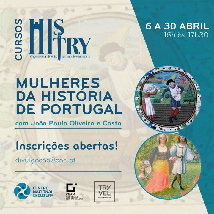 Curso online :: Mulheres da História de Portugal