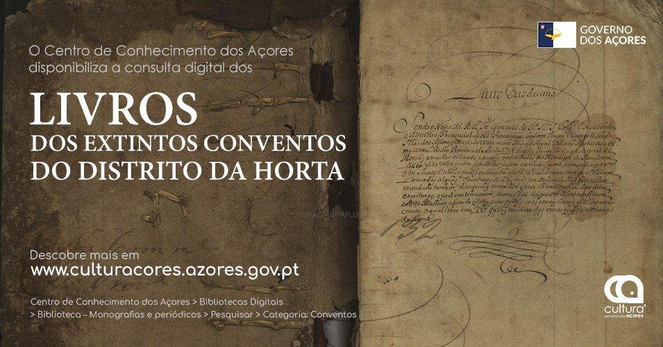 Divulgação - Livros dos Extintos Conventos do Distrito da Horta