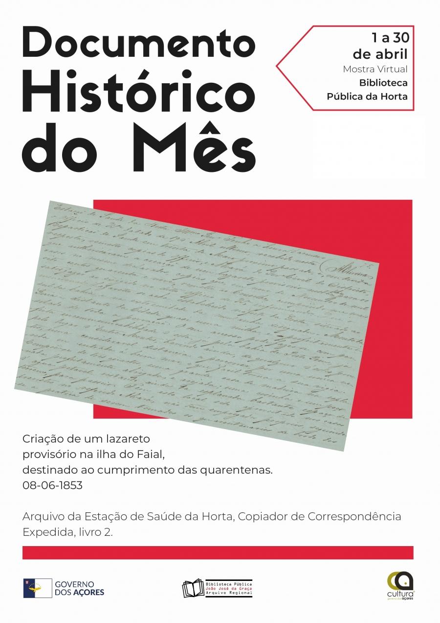 Mostra Online - Documento Histórico do Mês - Biblioteca Pública e Arquivo Regional João José da Graça