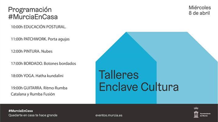 Programación #MurciaEnCasa Miércoles 8 abril.